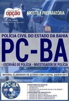 Apostila PC BA ESCRIVÃO DE POLÍCIA E INVESTIGADOR DE POLÍCIA