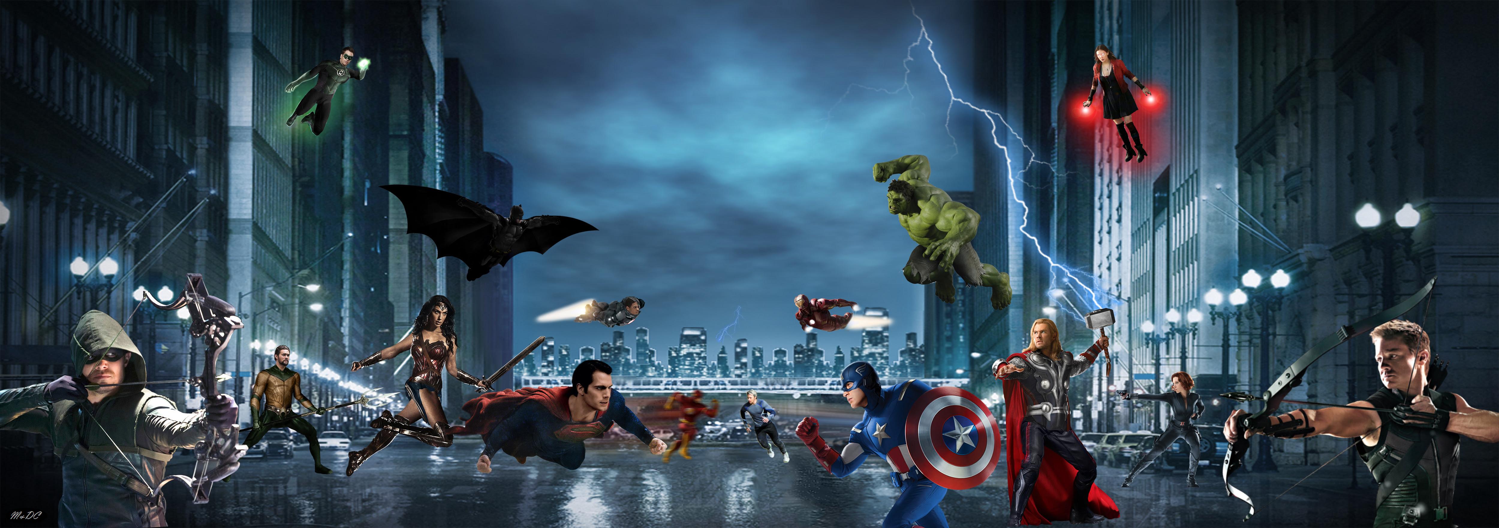 Batman Vs Superman Justice League Vs Avengers Wallpaper Images