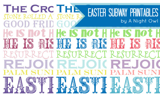 free easter subway printable
