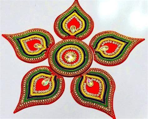 Rangoli Kundan Rangoli Diwali Acrylic rangoli by