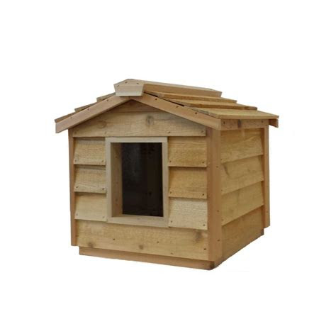 small cedar insulated cat  small dog house