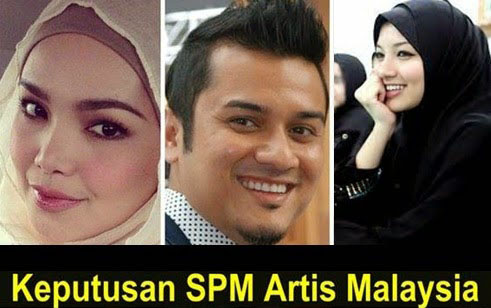 Keputusan SPM Artis Terkenal Malaysia Didedahkan