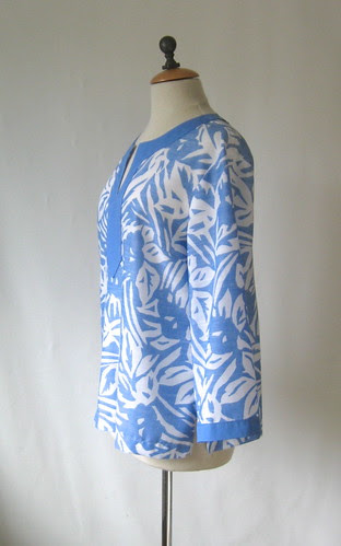 blue tunic side view