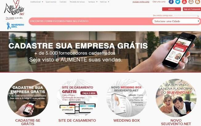A SeuEvento.net é um guia de fornecedores de diversos produtos e serviços para qualquer tipo de evento - Valor do Investimento: R$ 33 mil . Foto: Divulgação
