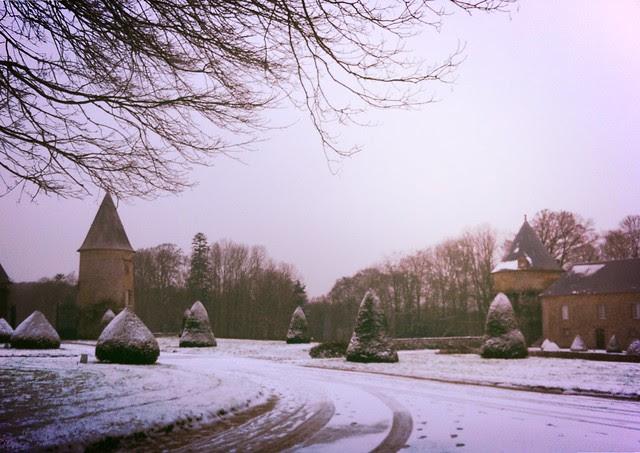 Snow at Le Château de Canisy