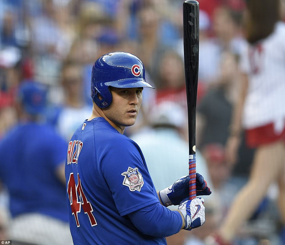 Since taking office, a number of professional athletes have expressed displeasure over the prospect of visiting the polarizing Trump in the White House, but Cubs first baseman Anthony Rizzo above said it was 'an honor'