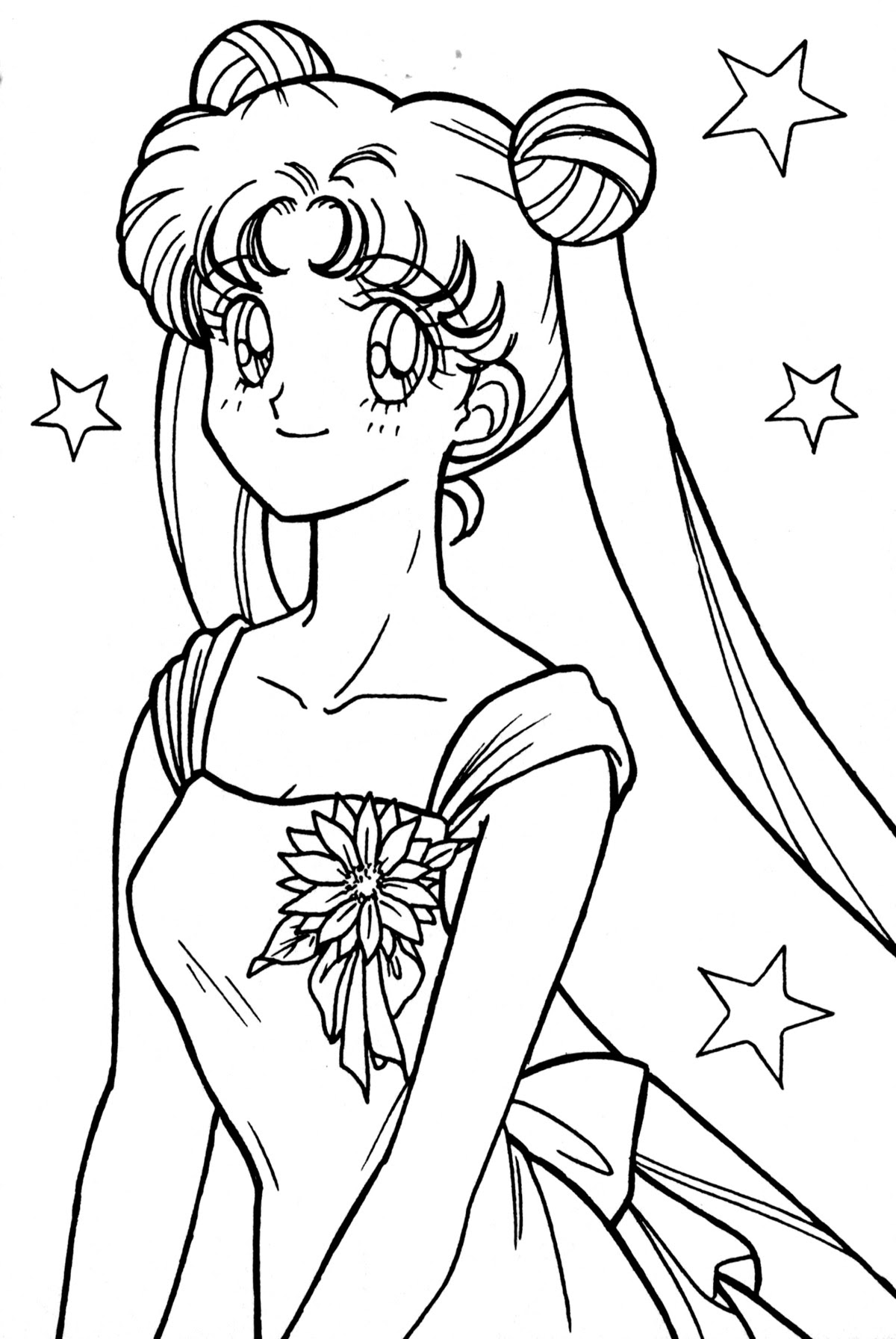 Coloriage de Usagi Tsukino Sailor Moon