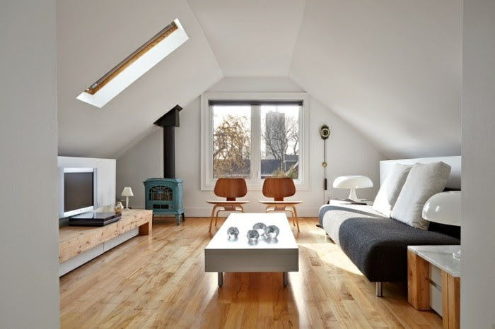 Schlafzimmer Dachschrägen Einrichten | Dachgeschosswohnung ...