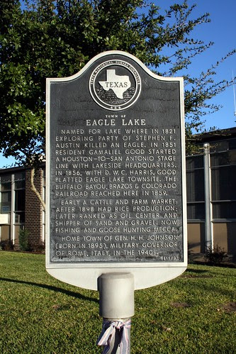 eagle lake historical marker