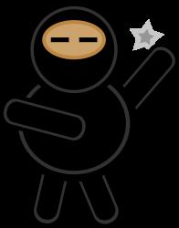 Plump ninja by laobc - A plump cartoon ninja