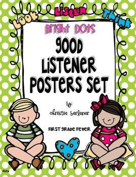 Bright Dots GOOD LISTENER Poster Set