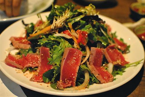 Seared Ahi Tuna Salad W: Maraschino Cherry Dressing