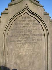 Thomas Ainscough d. 1861 m Betty (Whitehead) d.1879