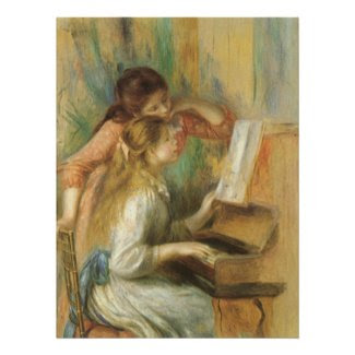 Young Girls at the Piano by Pierre Auguste Renoir Poster