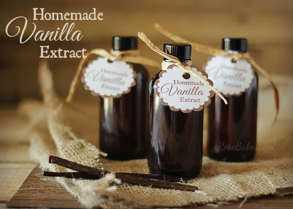 How to Make Homemade Vanilla Extract by Rose Bakes