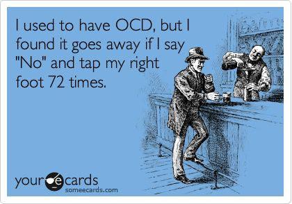 ocd ecard, ocd comic, ocd tap foot