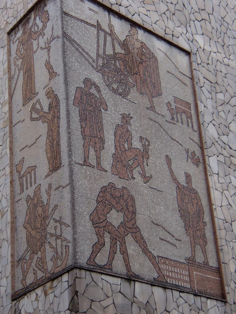 Virgilio Milani: mosaico facciata Liceo Celio (Rovigo)