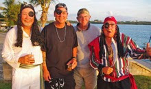 """Steve Black and """"pirate friends"""" on Caribbean 1500 Rally on Nanny Cay"""