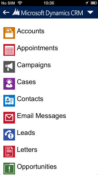 Dynamics CRM 2013 iPhone Client2
