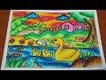 Cara Mewarnai Gambar Dengan Crayon Titi