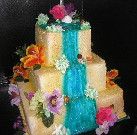 Pin by Bailey Squires Whitman on Cakes   Waterfall cake