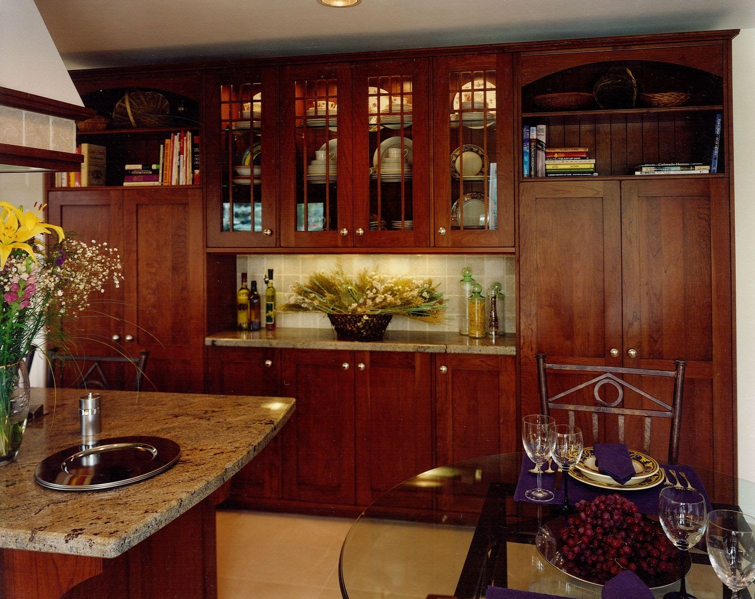 Hand Made Arts & Crafts Kitchen Remodel Of Cherry Wood by ...