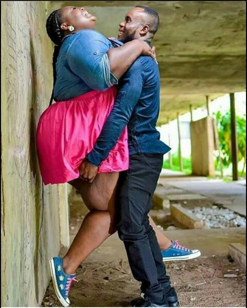 Man Carries His Large-Sized Fiancee In Viral Pre-Wedding Photo. Caption This
