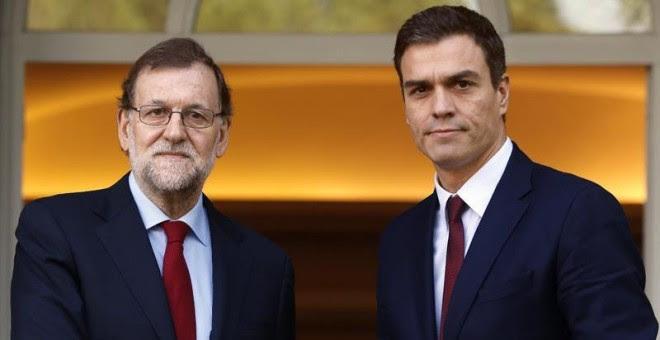 Resultado de imagen de Pedro Sánchez y Rajoy