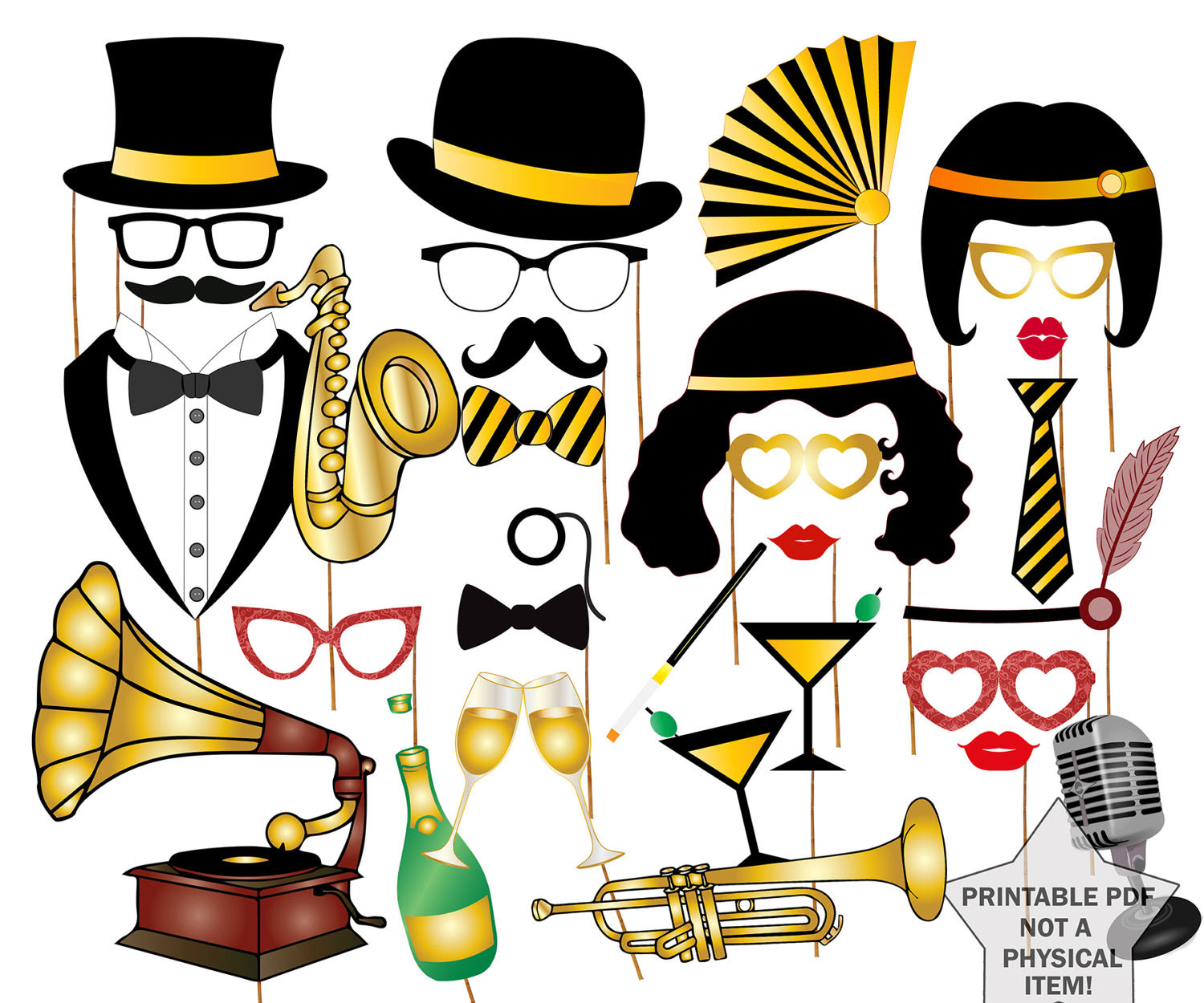 Roaring 20s Clipart Free Free Download Best Roaring 20s Clipart