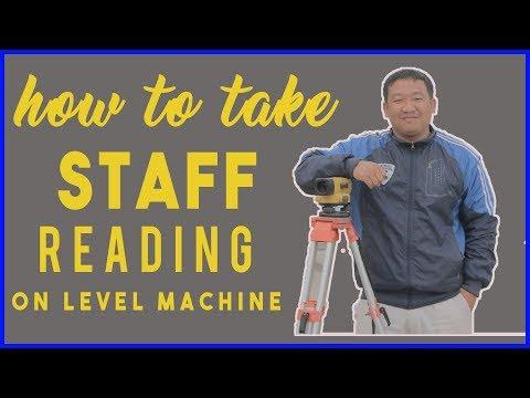Staff reading on level machine