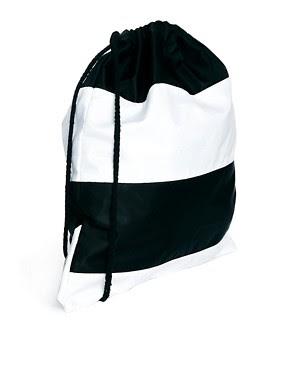 Image 2 ofASOS Drawstring Backpack in Stripe