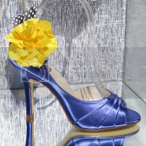 Molly D'Orsay Heel in Royal Blue Satin