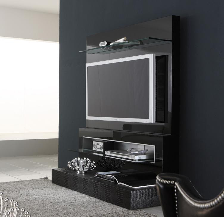 Black Diamond Wall Mounted Modern Tv Cabinets Design Ipc336 Lcd Tv