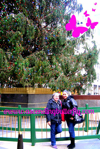 Us in front of The Holidays 2012 Rockefeller Christmas Tree 01 WATERMARKED
