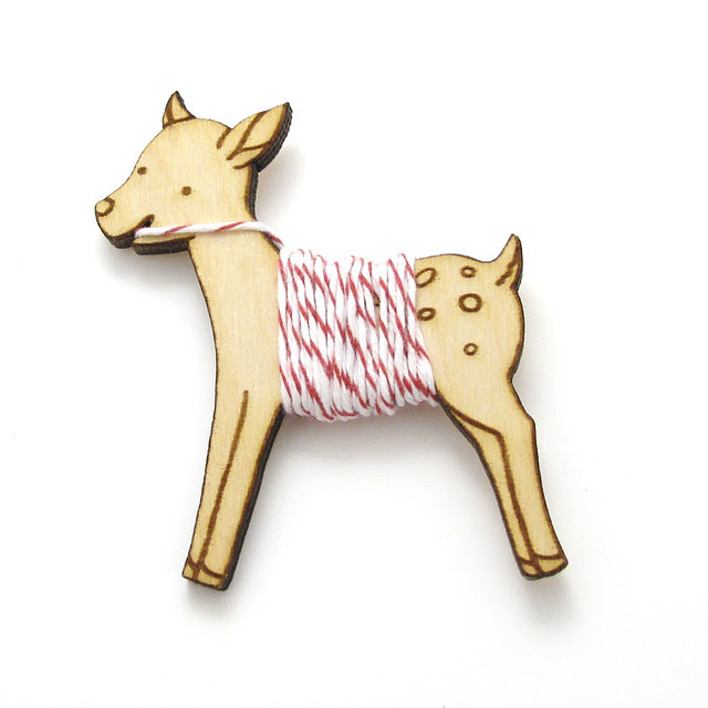 Flossy the Fawn Embroidery Floss Bobbin 4