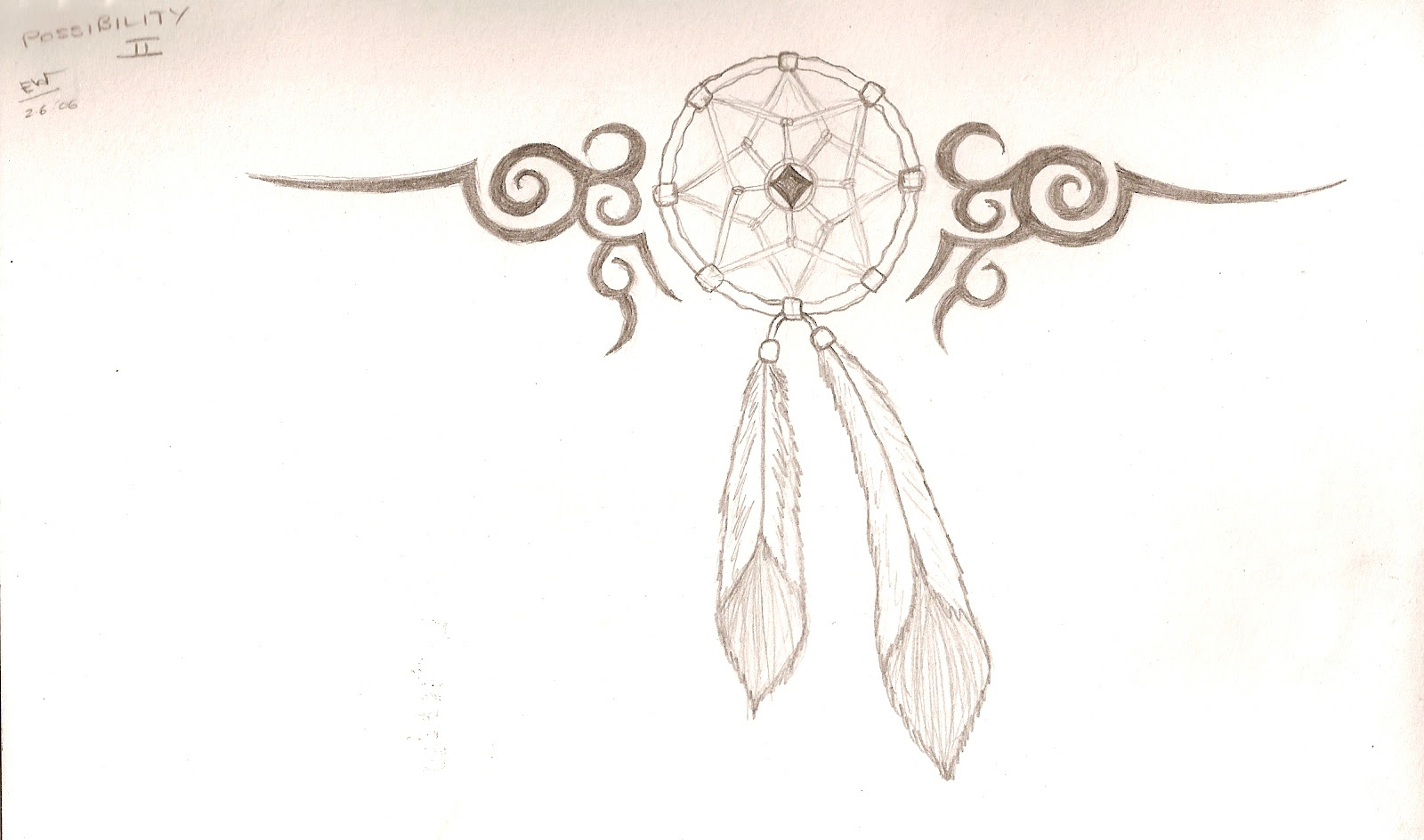 Tribal And Dreamcatcher Tattoo Design
