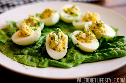 Garlic And Parsley Deviled Eggs