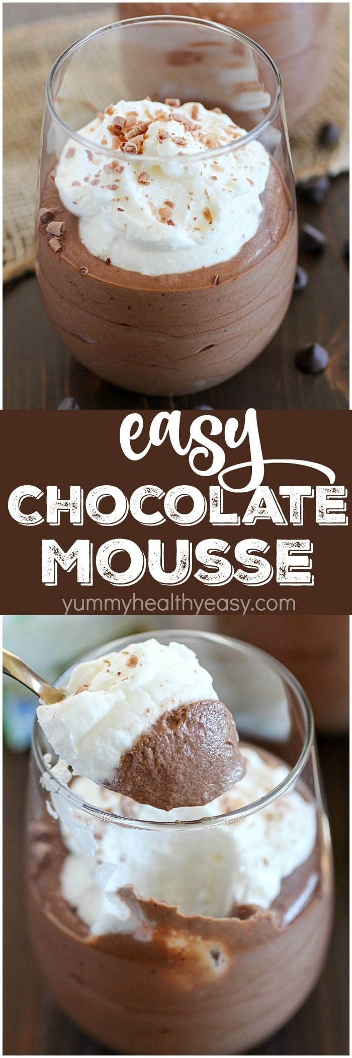Easy Chocolate Mousse Recipe - Yummy Healthy Easy