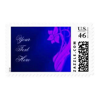Indigo Floral Postage stamp