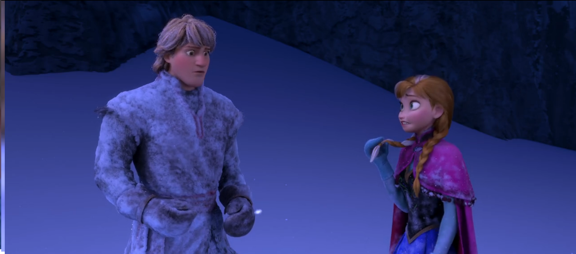 6 Kristoff Your hair…it s turning white Anna Does it look bad Kristoff ……No Olaf You hesitated Kristoff No I didn t