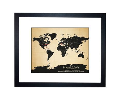 World map   personalized family travels map   anniversary