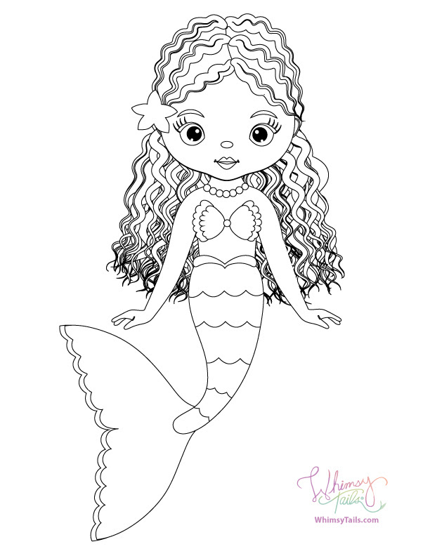Free Coloring Pages   Whimsy Tails® Mermaid and Shark Blankets
