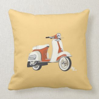 Scooter Pillow throwpillow