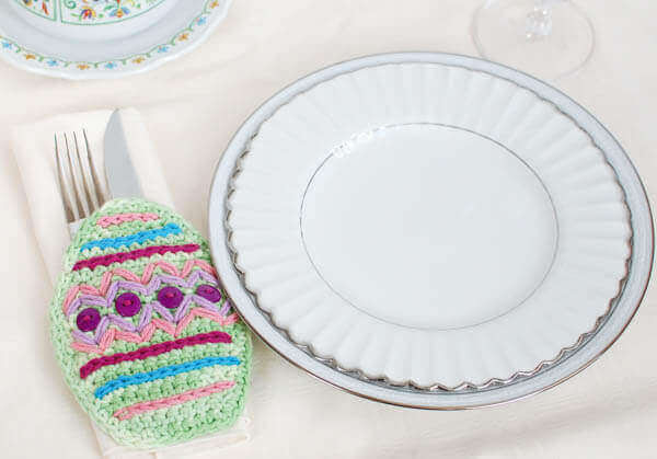 Crochet Easter Place Setting | #crochet #Easter #pattern #placesetting #decor