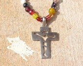 Abstract Crucifix Necklace He died for me