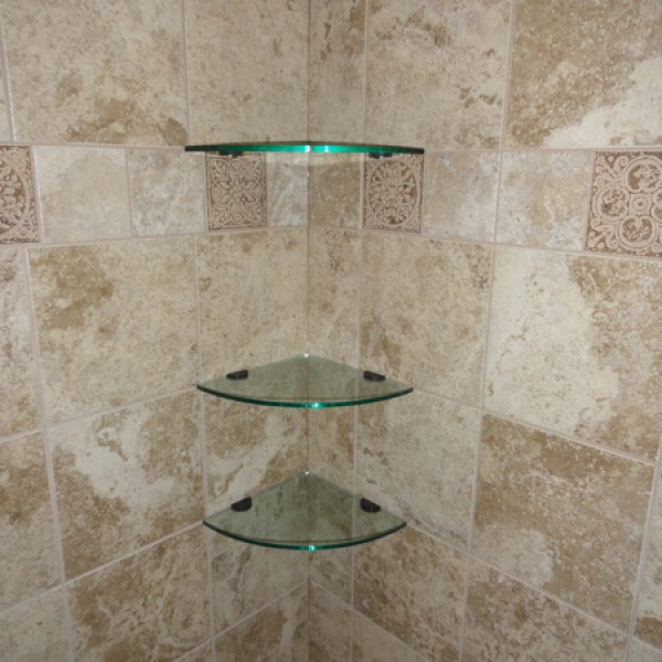 Glass Corner Shelves 10 Inch Quarter Round Glass Tile And Stone