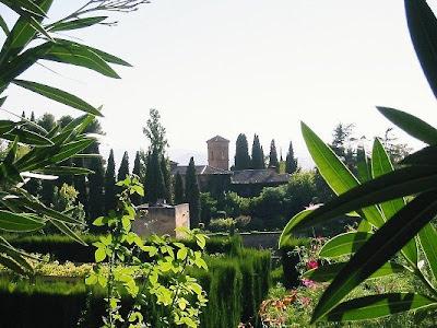 Inside the gardens of The Alhambra