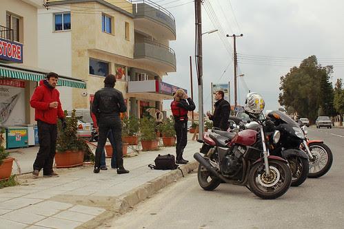 coffee break before entering Larnaca