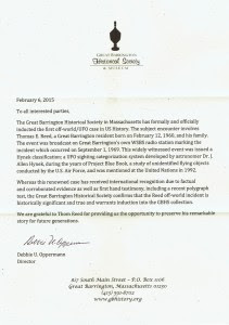 Great Barrington Historical Society and Museum Press Release. (click to enlarge)