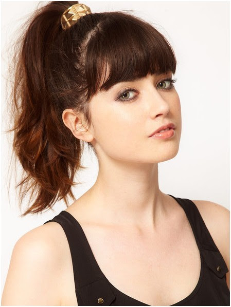 Long Ponytail  Hairstyles  with Bangs  Cute Hair Styles